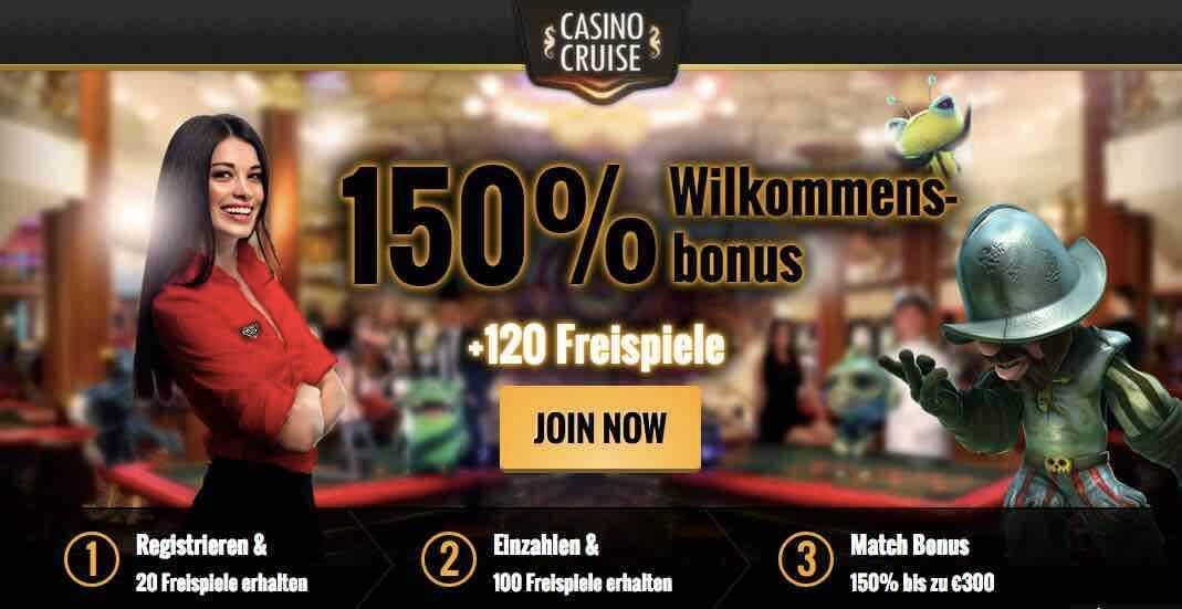 Willkommensbonus bei Casino Cruise