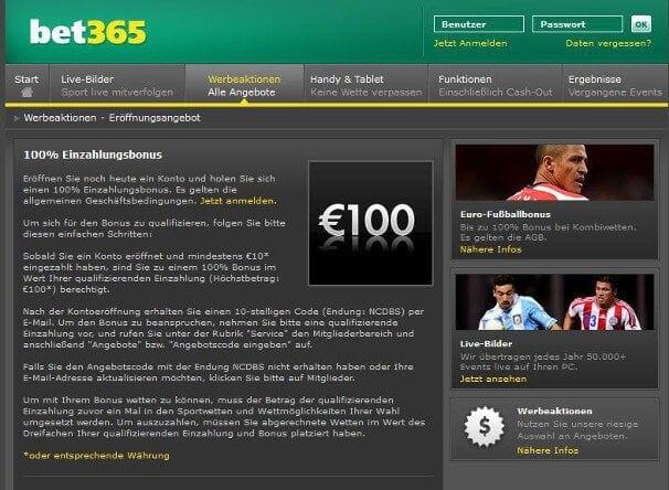 bet365 hat den besten Bonus der Branche