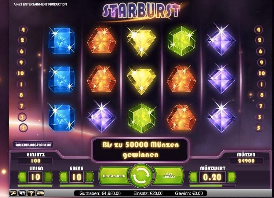 Starburst Free Spins 1