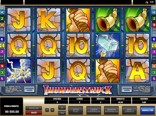 Online-Slot Thunderstruck bei mrgamez.net