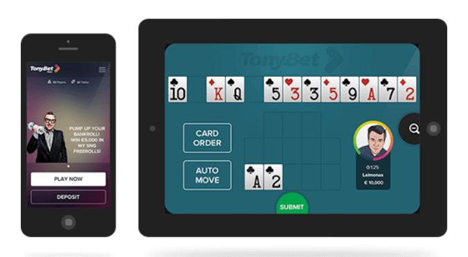 Tonybet Poker App für mobiles Spielen