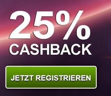 VegasWinner PayPal mit Cashback nutzen