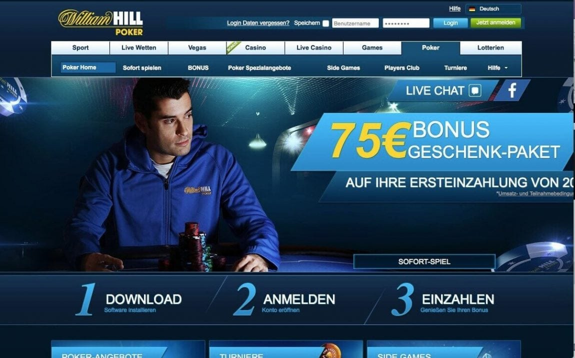 William Hill Poker Bonus Code