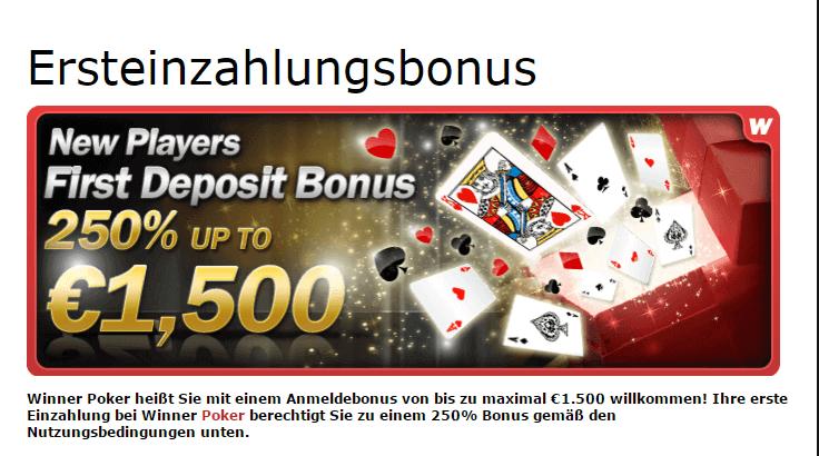Der Neukundenbonus von Winner Poker