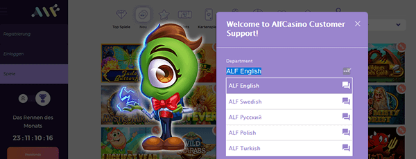 Alf Casino Support