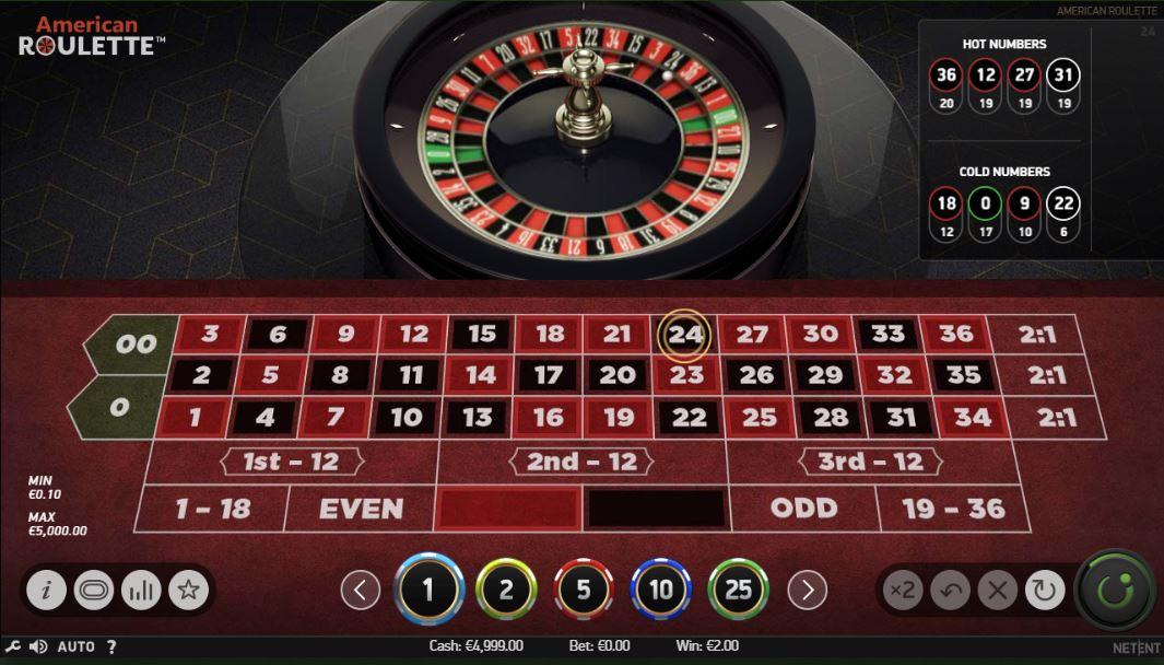 American Roulette kostenlos testen