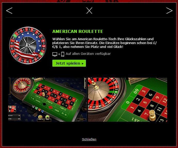 Amerikanisches Roulette Bonus