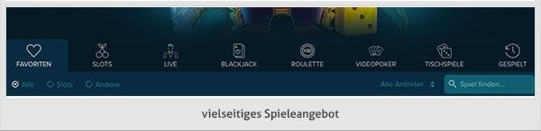 Casinoland Spielangebot