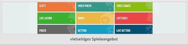 Paf Casino Spielangebot