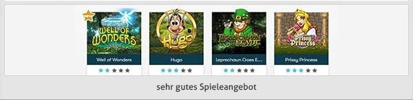 Intercasino Spielangebot