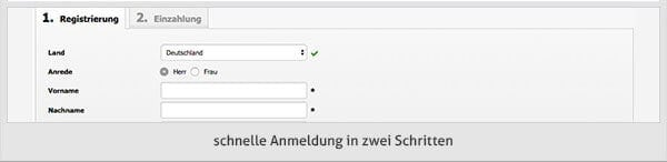 iwCasino Registrierung