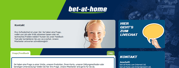 Bet-at-Home Casino Support