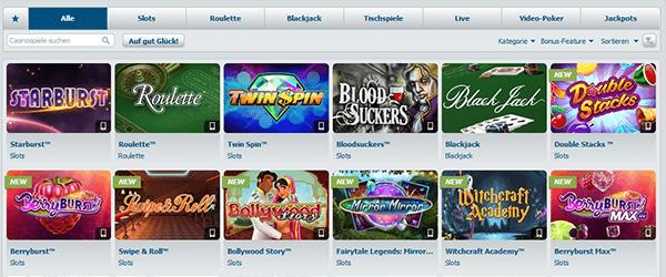 Bet-at-Home Zusatzangebote Casino & mehr