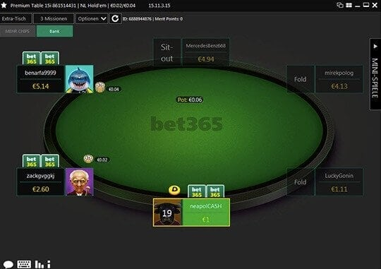 Poker online spielen bei bet365