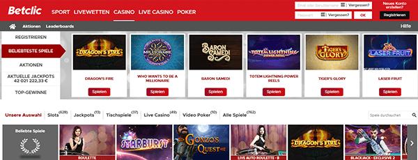 Betclic Casinospiele