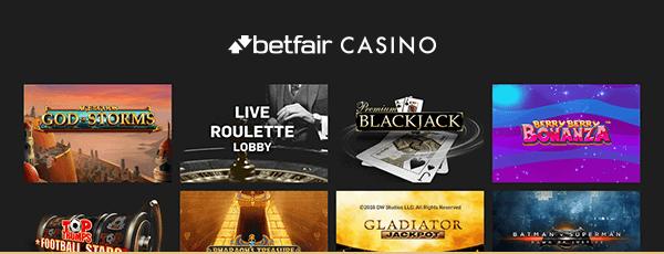 Betfair Casino Spiele