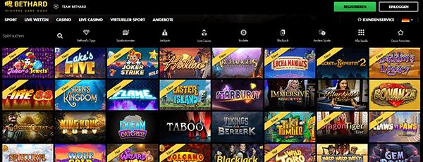 Bethard Casino Spiele Angebot