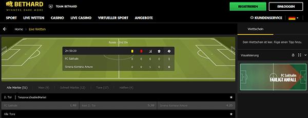 Bethard Sport Livewetten