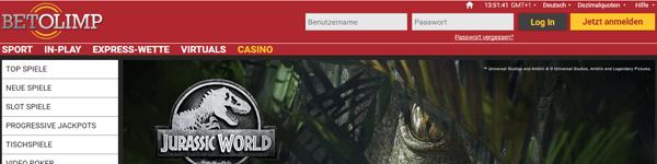 Betolimp Casino Spiele