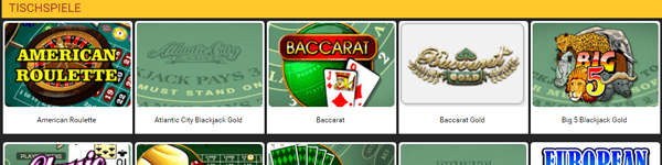 Betolimp Casino Tischspiele mobile Version