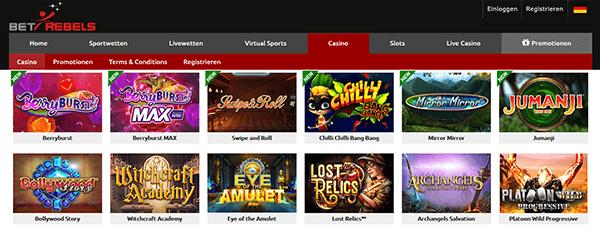 BetRebels Casino Spiele