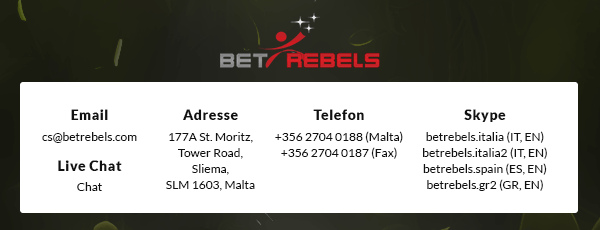 BetRebels Casino Support