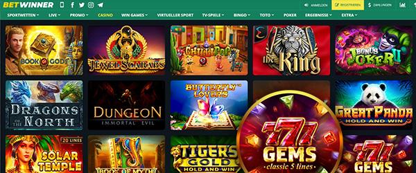 BetWinner Casino Spiele