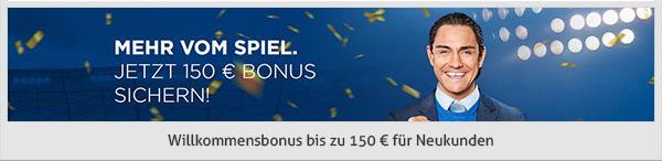 Neue Kunden erhalten einen 100% Bonus von bis zu 150€