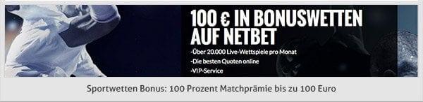 NetBet Sportwetten Bonus