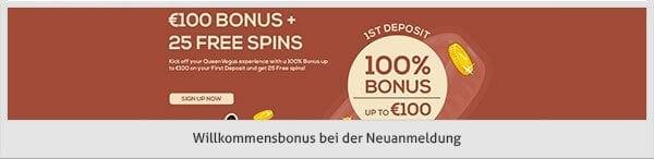 Queen Vegas Casino Bonus