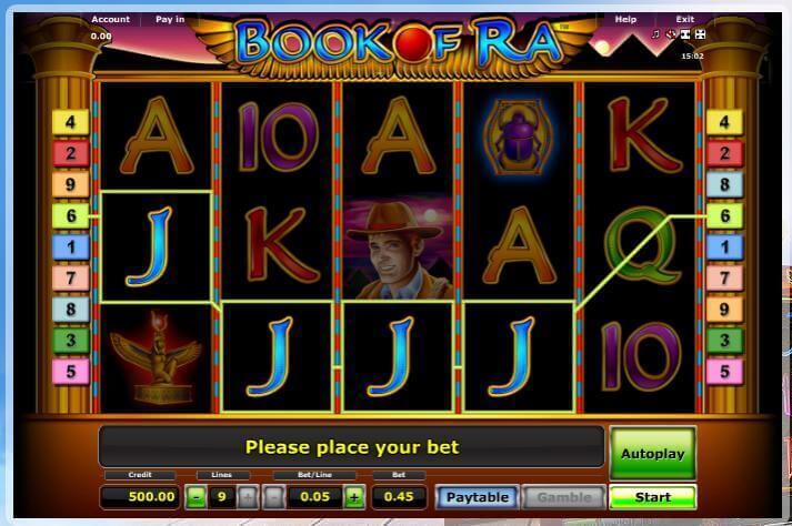 casino bet online book of ra