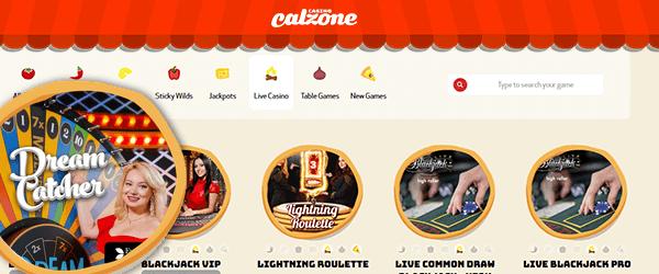 Casino Calzone Live Casino