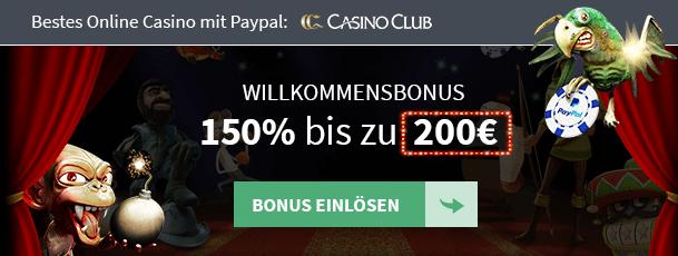 Casino Club PayPal Empfehlung