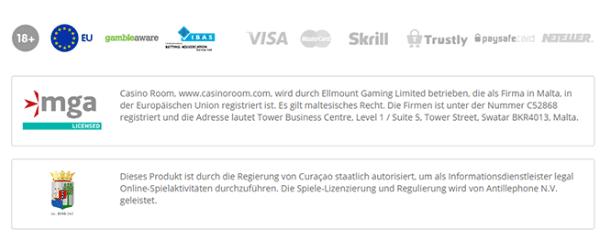 Casino Room Lizenz