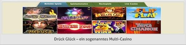 Drückglück Casino Angebot