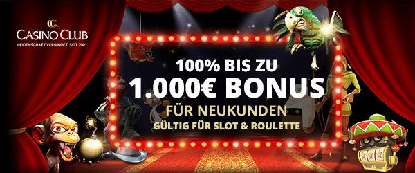 CasinoClub Bonuscode