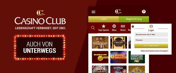 CasinoClub Casino Mobil