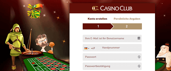 CasinoClub Casino Registrierung