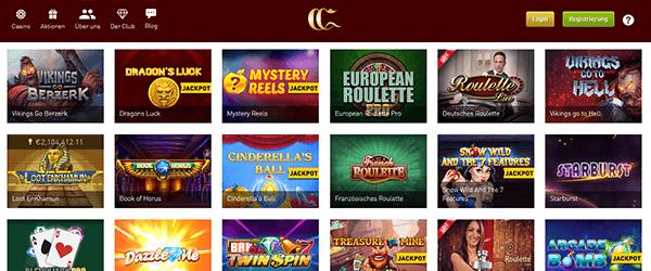 CasinoClub Casino Spiele