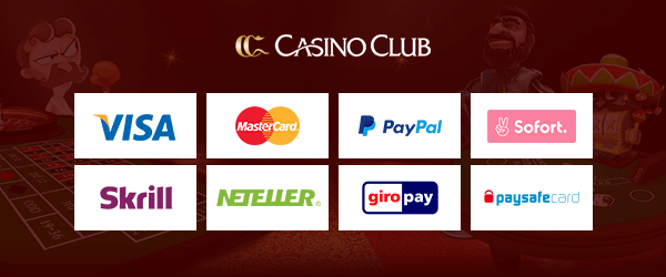CasinoClub Casino Zahlungsmethoden