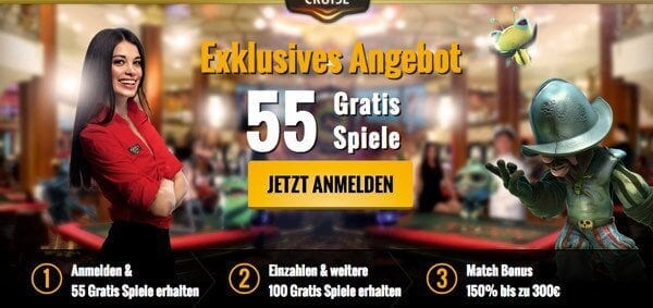 casinocruise_55FS_300EUR_Bonus