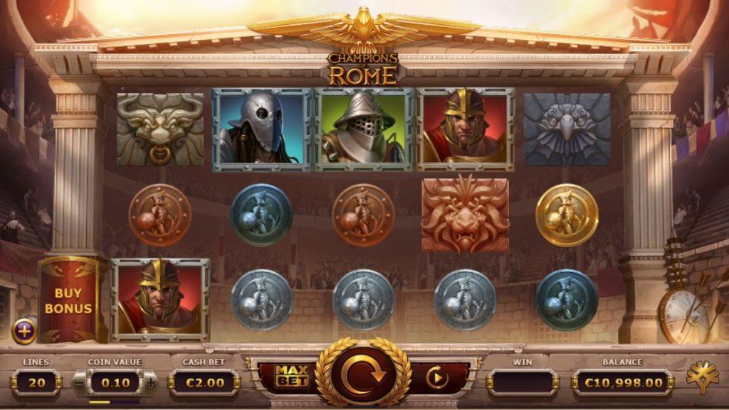 champions of rome slot von yggdrasil