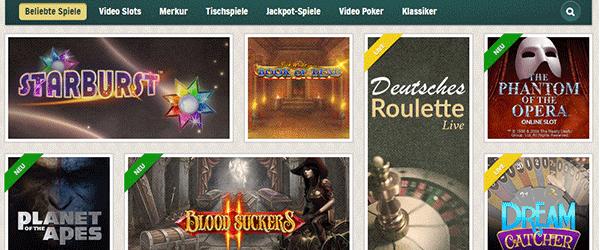Cherry Casino Spiele Angebot