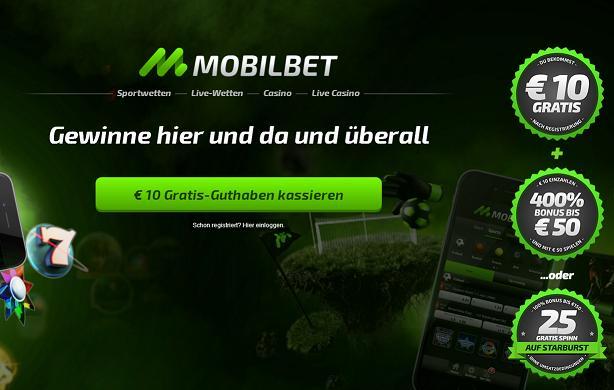 Willkommensboni bei Mobilbet
