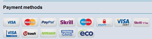 Die Zahlungsmethoden bei Coral Bingo