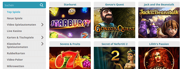 Cozyno Casino Spiele Angebot