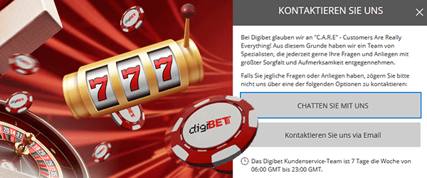 Digibet Casino Support