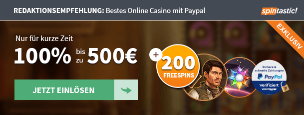 Spintastic PayPal Empfehlung