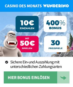 Wunderino.de  - Casino des Monats