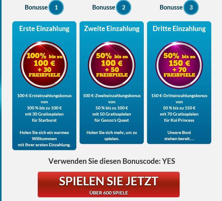 Gutscheincode FГјr Online Casino